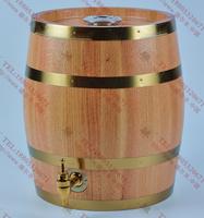 德尔丰圆形内钢外木(柞木)啤酒桶5L